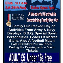 Help the Heroes – Family Fun Day 26th August – Burnham Football Club